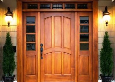 درب و چهار چوب چوبی ساخت درب چوبی