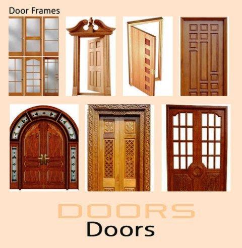 درب چهار قاب چوبی ، انواع درب و چهار چوب چوبی ، عکس درب