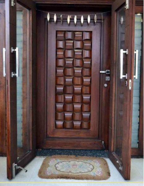 درب چوبی حصیری