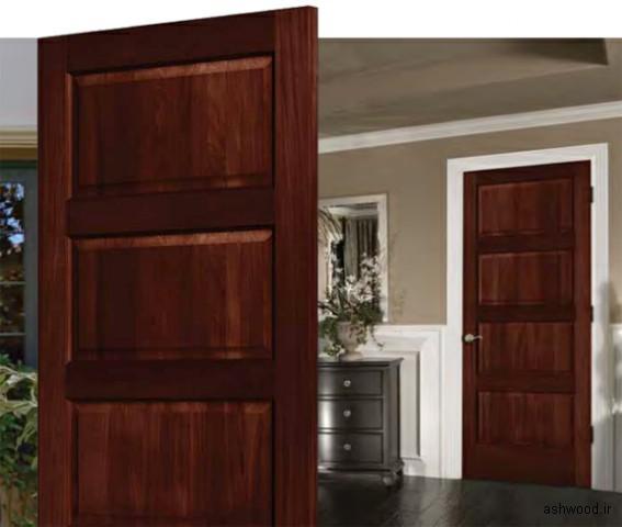 درب چوبی سفارشی , درب تمام چوب با چهارچوب و روکوب