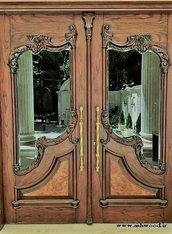 درب لابی لوکس و سفارشی, درب لابی قیمت و خرید درب چوبی ورودی لابی