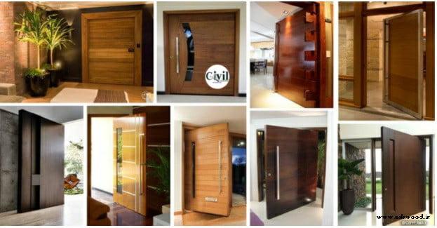 درب چوبی جذاب , طراحی و ساخت انواع درب تمام چوب لوکس