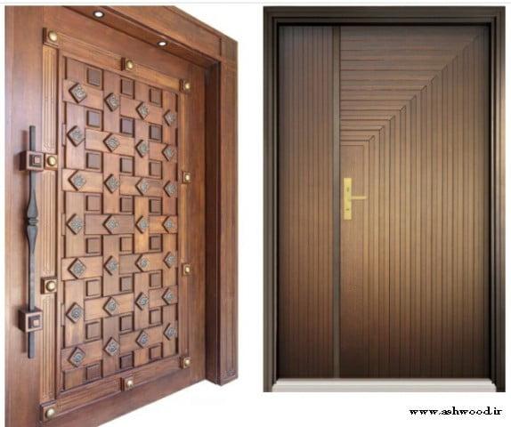 درب چوبی و چهارچوب سفارشی تمام چوب و ام دی اف