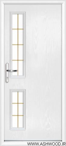 درب چوبی سفید طلایی , دکوراسیون کلاسیک , مدل درب چوبی