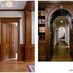ایده درب و چهارچوب ورودی , درب لابی , درب لوکس تمام چوب