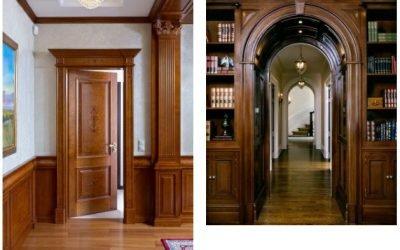 ساخت درب تمام چوب ورودی , درب لابی سفارشی و لوکس