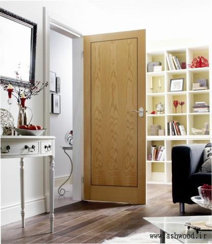 طراحی و ساخت انواع درب چوبی سفارشی