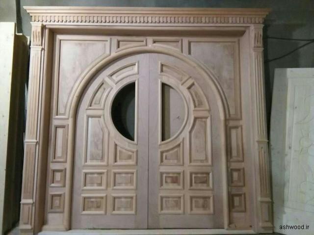 مدل و ایده های درب چوبی ورودی