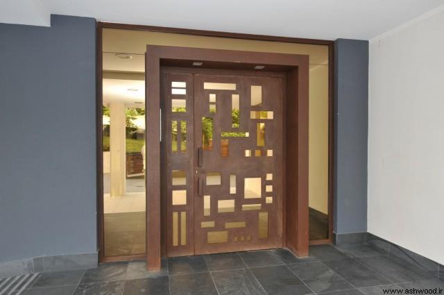 مدل درب ورودی مدرن