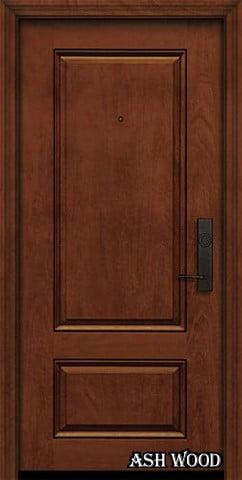 درب چوبی رنگ گردویی