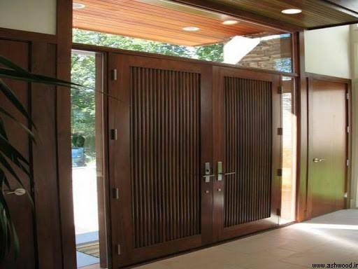 28 درب ورودی سبک مدرن و معاصر, ایده جالب طراحی درب مینیمالیستی