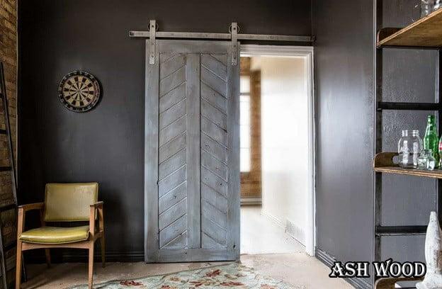 درب چوبی سبک روستیک , درب بین هال و پذیرایی  و مدرن
