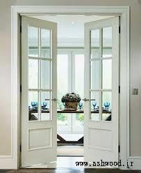 دربهای داخلی فرانسوی , مدل درب چوبی سبک فرانسوی شیشه خور