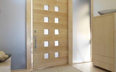 25 طرح مدرن درب چوبی لابی و ورودی 2