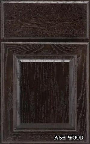 درب کابینت چوب بلوط به رنگ مشکی موج نما