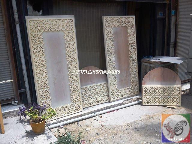 درب گره چینی ساخته شده توسط گروه فن و هنر ایران زمین