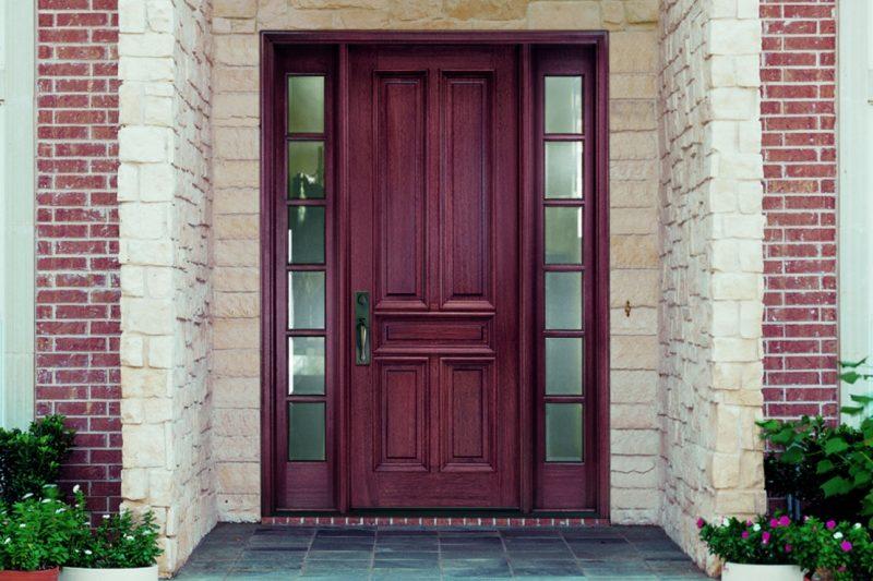درهای چوبی خالص رای ورودی خانه