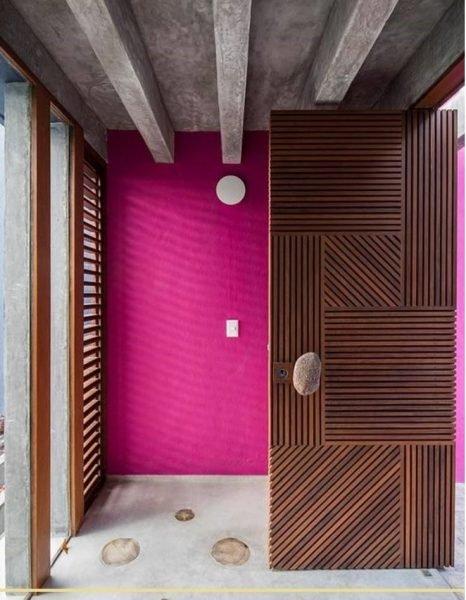 درهای چوبی هندسی