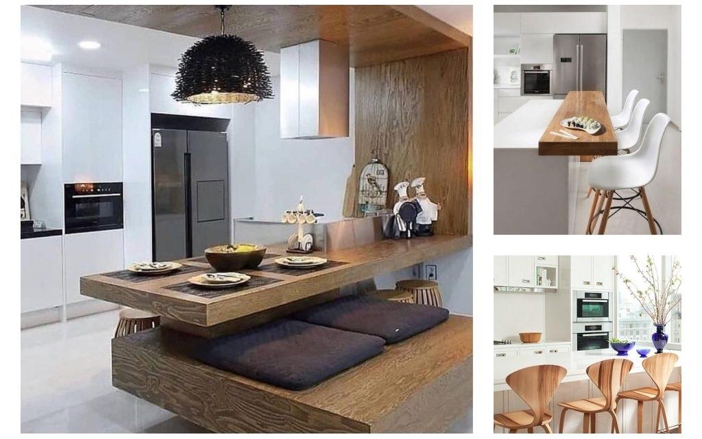 دکوراسیون چوبی آشپزخانه , ایده اپن جالب و هوشمندانه برای آشپزخانه