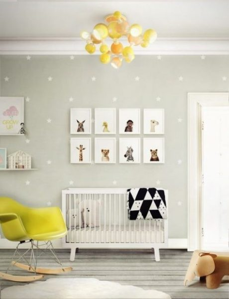 دکوراسیون اتاق کودک با رنگ خاکستری