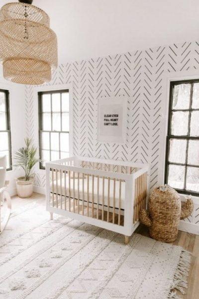 دکوراسیون اتاق کودک بوهو با کاغذ دیواری