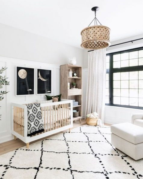 دکوراسیون اتاق کودک خنثی سفید رنگ