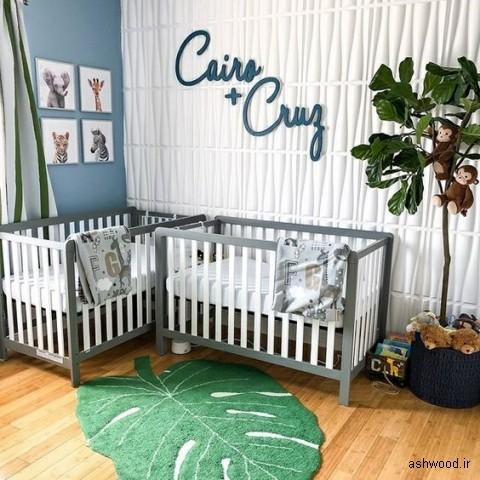 3 روند دکوراسیون اتاق کودک, تخت چوبی نوزاد