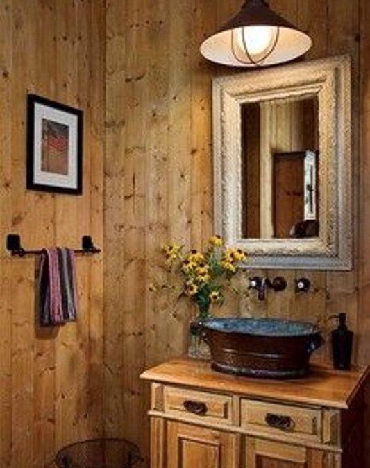 دکوراسیون داخلی سرویس بهداشتی به سبک روستیک