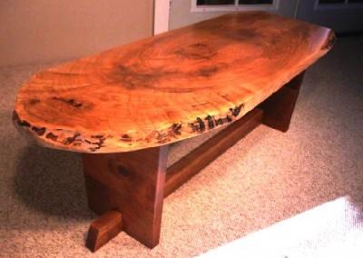 دکوراسیون روستیک , میز قهوه خوری تنه درخت 04