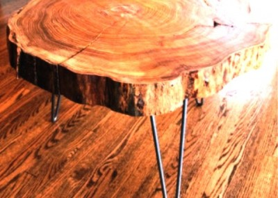 دکوراسیون روستیک , میز قهوه خوری تنه درخت 07