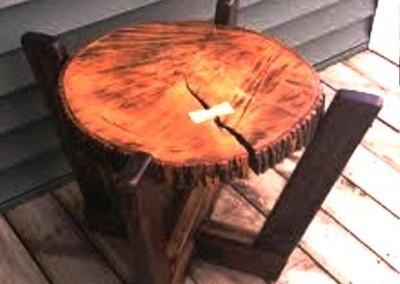 دکوراسیون روستیک , میز قهوه خوری تنه درخت 10