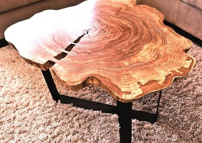 دکوراسیون روستیک , میز قهوه خوری تنه درخت 11