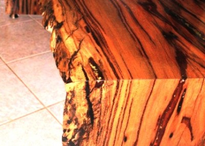دکوراسیون روستیک , میز قهوه خوری تنه درخت 15