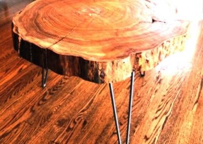 دکوراسیون روستیک , میز قهوه خوری تنه درخت 16