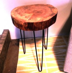 طراحی و ساخت میز و صندلی چوب تنه درخت دکوراسیون روستیک