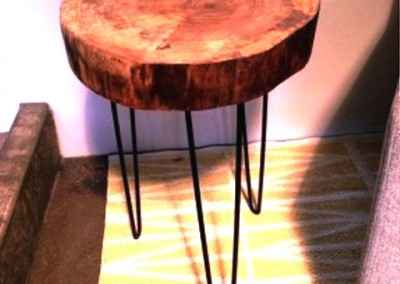 دکوراسیون روستیک , میز قهوه خوری تنه درخت 17