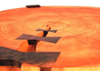 دکوراسیون روستیک , میز قهوه خوری تنه درخت 18