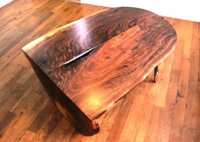 دکوراسیون روستیک , میز قهوه خوری تنه درخت 21