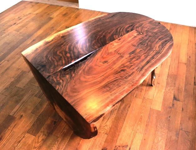 طراحی و ساخت میز و صندلی چوب تنه درخت