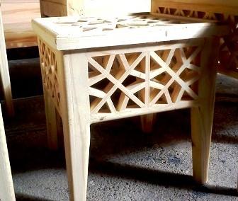 دکوراسیون سنتی چوبی , گره چینی ، میز و صندلی و کاناپه