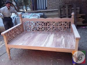 دکوراسیون سنتی گره چینی تخت سنتی تخت باغی مبلمان
