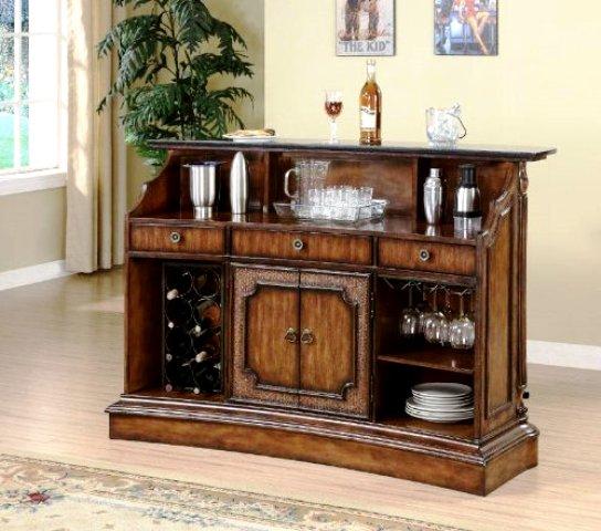 مدل های میز بار: دکوراسیون میز بار آنتیک و کلاسیک چوبی (12)