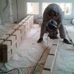 سقف کاذب چوبی ، سقف تیر و تیرچه چوب و فلز , نمونه کار مهندس درویش کوچه طوس که توسط گروه صنایع چوب فن و هنر اجرا شد