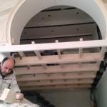 سقف کاذب چوبی آلاچیق پرگولا سقف کاذب دکوراسیون چوبی ستون چوبی تیر چوبی سقف لمبه کوبی سقف و دیوار چوبی
