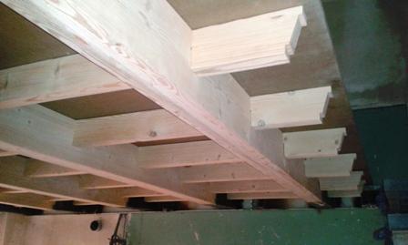 ساخت سقف چوبی سبک ( چوب و فلز )