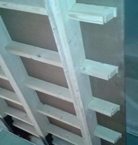 سقف کاذب چوبی ، سقف تیر و تیرچه چوب و فلز