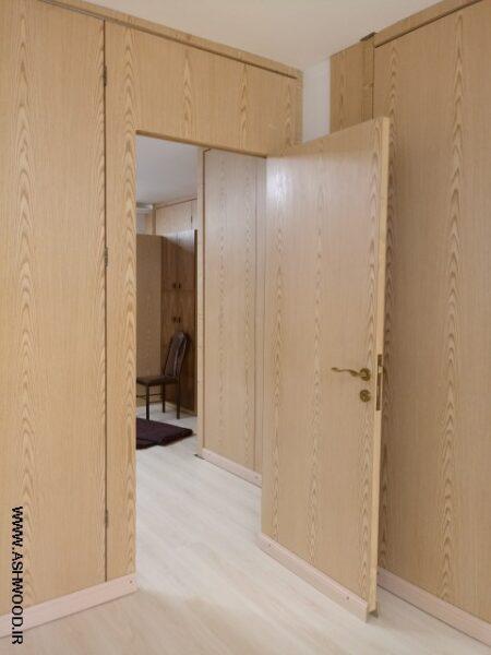درب ریلی و کشویی چوب ملچ , ساخت درب جمع شونده پارتیشن