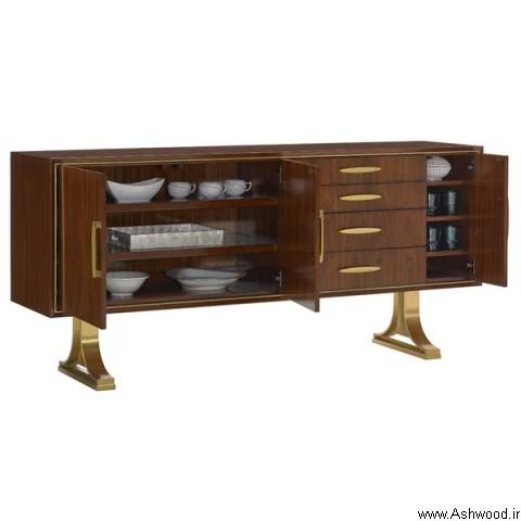 ساخت انواع میز کنسول چوبی , دکوراسیون چوبی لوکس