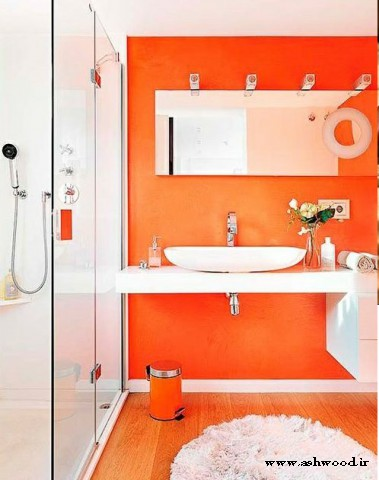 دکوراسیون چوبی نارنجی