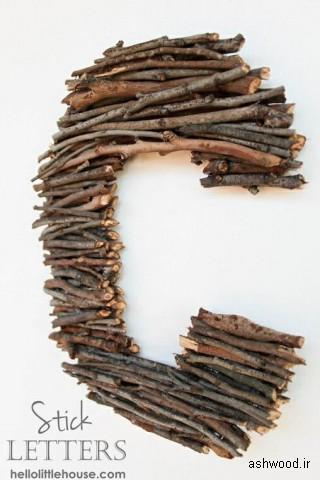 دکوراسیون چوب طبیعی در منزل , اسلب و تنه چوب طبیعی